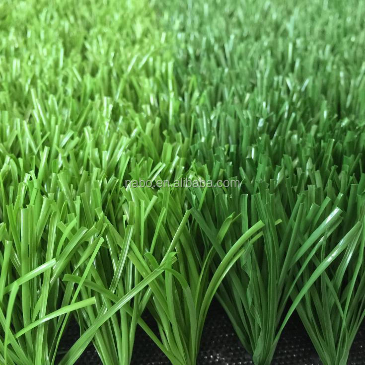 football grass shaped artificial turf , fake wholesale double color squeezed grass lawn
