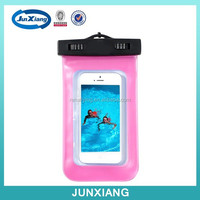 Wholesale new style with waterpoof earphones pvc case, pvc waterproof case for iphone