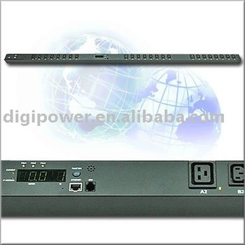 24 ports 3 phase 16 amp 11.1 kVA IP PDU- Switched/Monitored power distribution unit