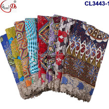 African hot design new pattern wax material embroidered cord guipure lace for making top and wrappers