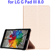 Concise Design Solid Color Leather Case for LG G Pad III 8.0, Stand PU Case for LG G Pad III 8.0