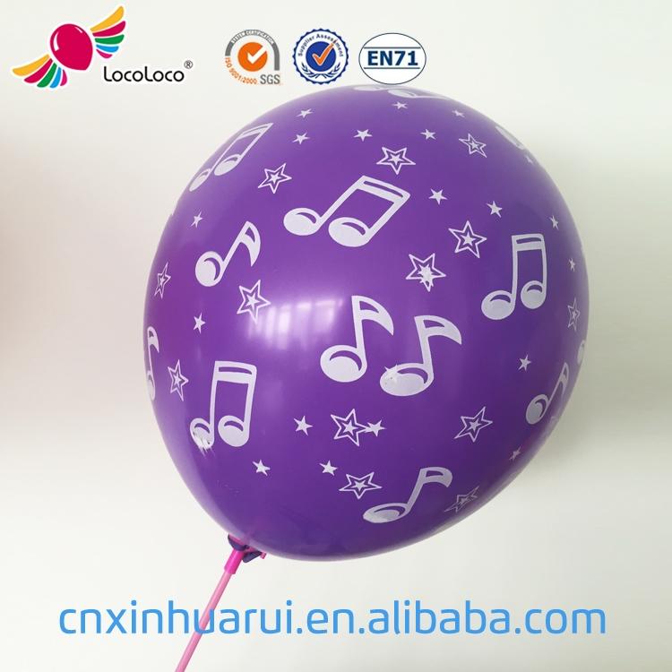 China atacado personalizado impresso balões de látex hélio balões de aniversário