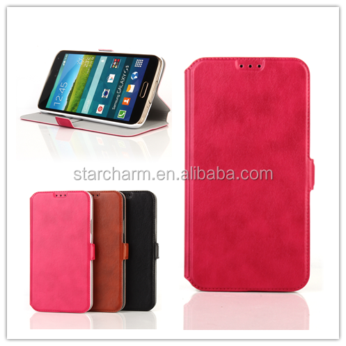 Credit Card Slot Wallet Leather Case for Samsung Galaxy S5