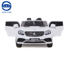 Mercedes Benz GLS63 license two seats 24V big battery operated electric battery operated ride on baby cars with four motors