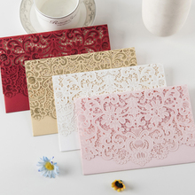 Hot sell different colors laser cut wedding invitations