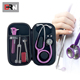 Wholesale waterproof personalized custom new eva protective hard foam zipper carrying case for stethoscope