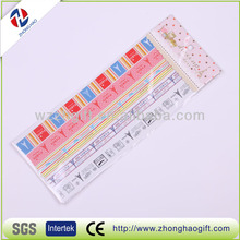 custom removeable adhesive colorful pvc lace sticker