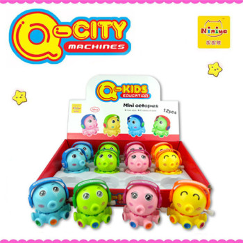 Q-CITY plastic mini wind up octopus for kids