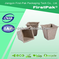 6cm square seeding pots mouded fiber peat planter square