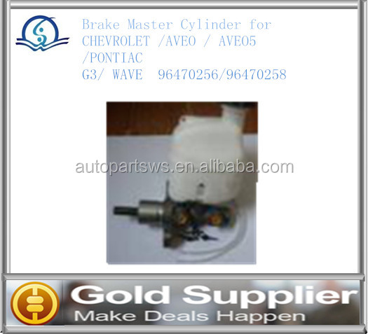 Brand New Brake Master Cylinder for CHEVROLET AVEO/ PONTIAC G3/ WAVE 96470256/96470258 with high quality and most competitive