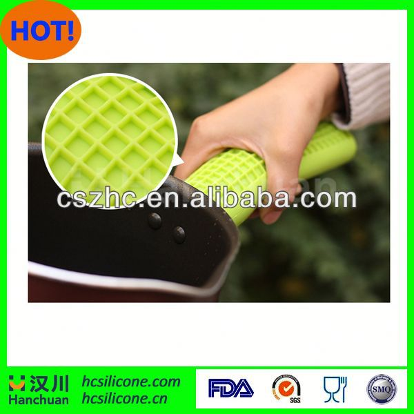 silicone pan handle cover,silicone pot handle cover,heat resistant handle for cookware