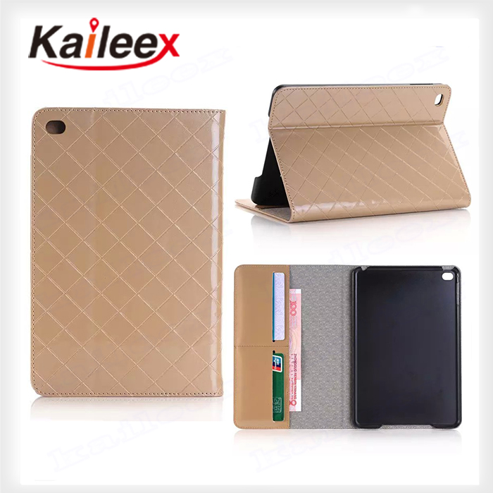 Cheapest Wholesale 100% Perfect Fit For Ipad mini4 Pu Wallet Case With Kickstand