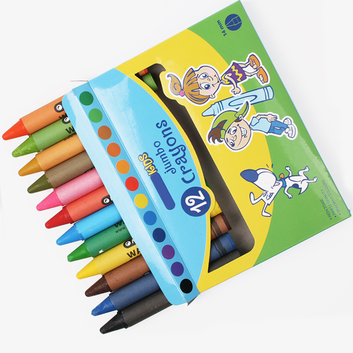 INTERWELL CP113 Jumbo Crayons, Customized 12 Pack Big Rainbow Crayon