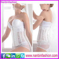 Wholesale high quality fashion bride zipper body shaping corset