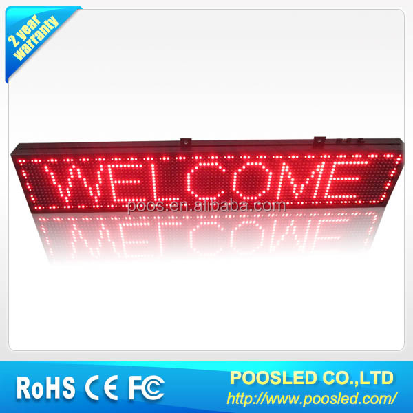 led car window message sign \ led car message sign \ led car message board