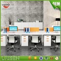 New design office staff used office aluminum partition cubicle workstation