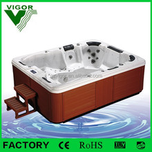 JY8002 whirlpool bathtub free 6 perpons outdoor tub/inflatable women 6 peop/whirl pool6 people hot tub for private family club