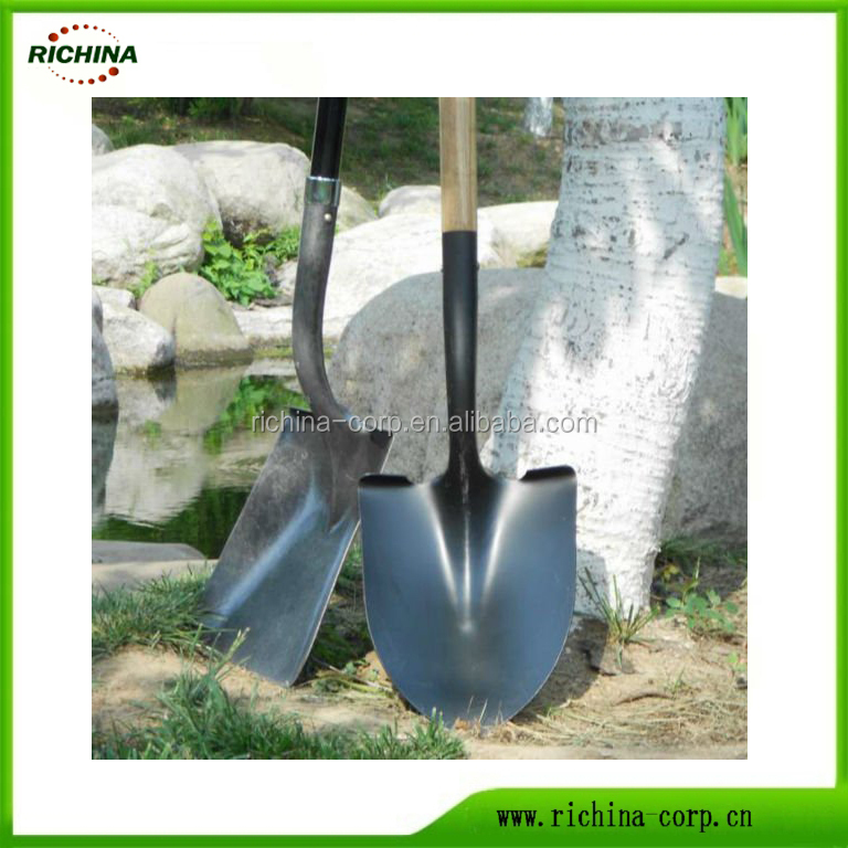 Digging Shovels,High Carbon Steel ,round and square head, long wood handle, rich experience
