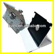 Rose Pattern For NEW iPad 2 3 4 Slim PU Leather Smart Cover Case Wake Up/Sleep Function Carving Blossom