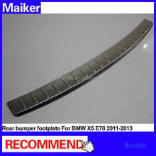 car aluminum foot plate for BMW X5 E70 2011-2013 rear bumper footplate stainless steel from Maiker