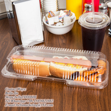 Clear Hinged Lid Plastic Container/OPS plastic food clamshell