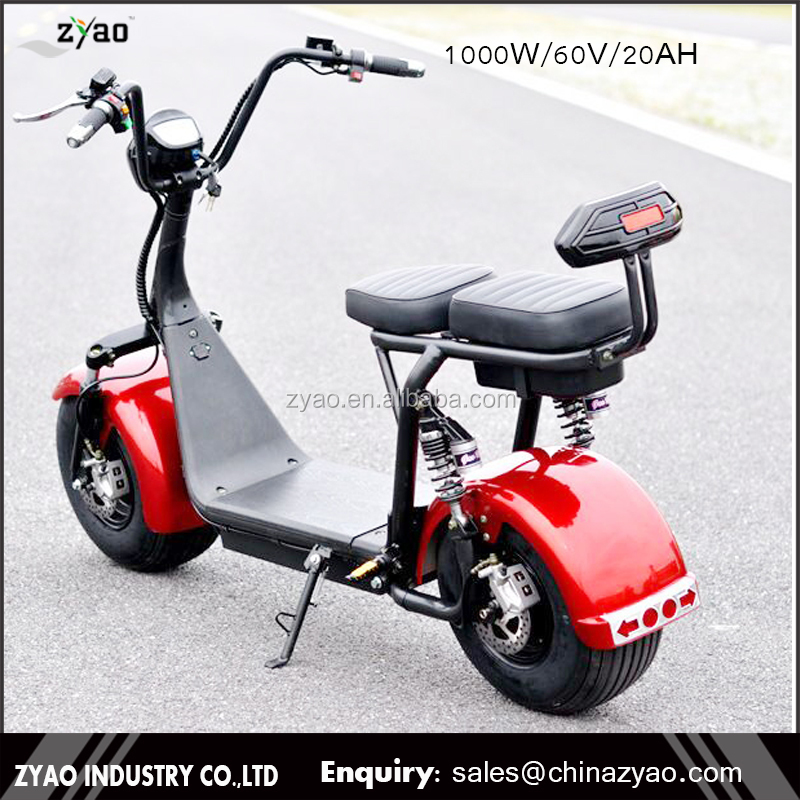 2017 Big tire 2 wheel cool sport electric scooter motorbike citycoco for adults