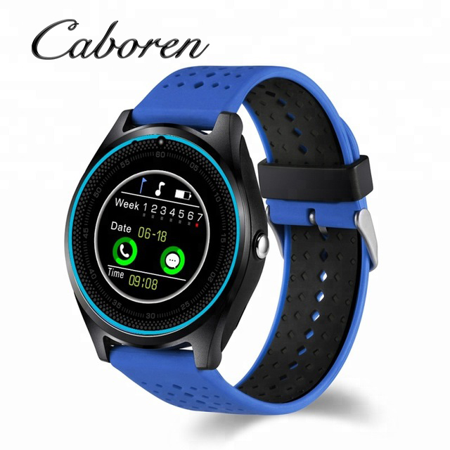 2019 Wholesale Bluetooth Smartwatch v9 Smart Watch With SIM Card and Camera Mobile Smart Watch with Android IOS Phones pk V8 <strong>A1</strong>