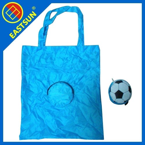 Foldable Shopping Bag with football shape pouch