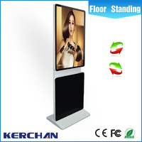 Marketing advertising 42 inch rotating floor standing x video free download ads Android system indoor/ outdoor advertising signs