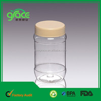 A12-2 round plastic container with screw lid clear
