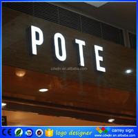 Names of electronics shops' letter with led lights