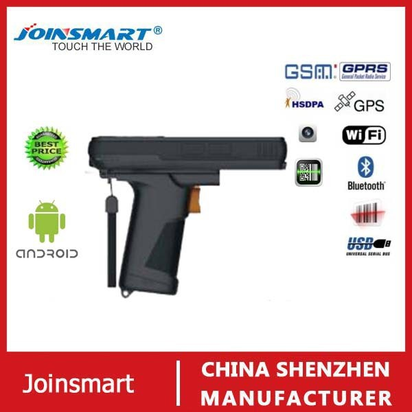 Good quality handheld pda wireless barcode scanner gun with buil-in wifi, RFID reader , pistol grip