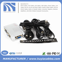 Computer to TV Converter Box - VGA to RCA S-video Composite Adapter