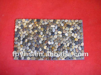 bathroom decorative floor pebble mat