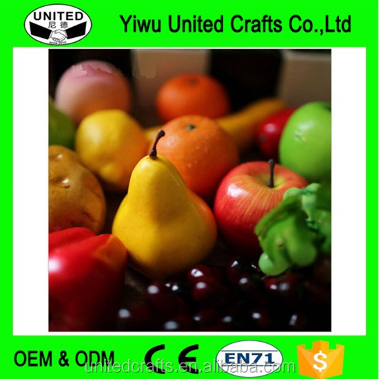 Artificial Fake Fruits Vegetables Plastic Lifelike Decorative Fruit Banana Apple
