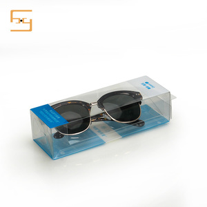 Custom Clear Transparent Pretty Sunglasses Plastic Packaging Box