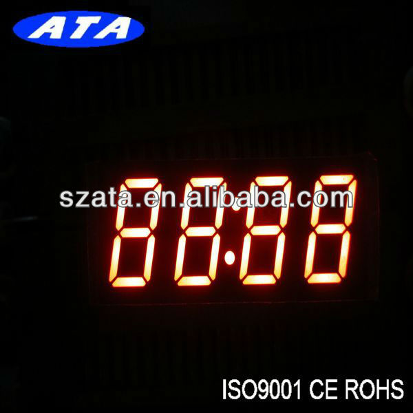 red color 4 digits 7 segment led display message(ATA2453BR-1)