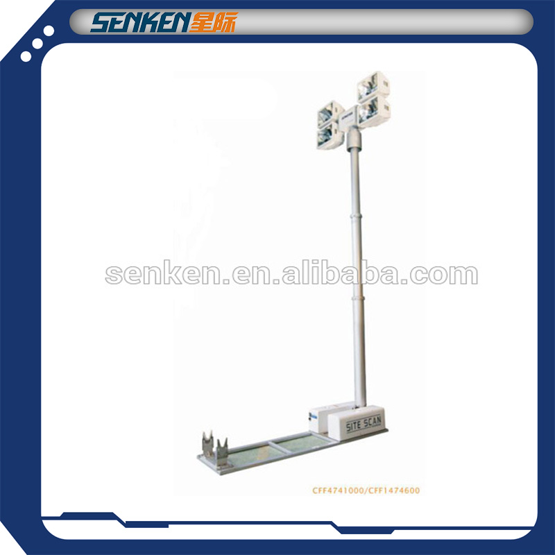 telescope high mast tower light of roof mounting for heavy duty truck and auto lighting system