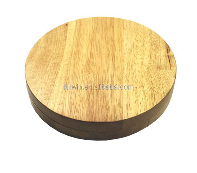 round shape oak wood cutting boards