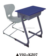 Study table and chair set for kids' education, used school desk cheap V02+KZ07