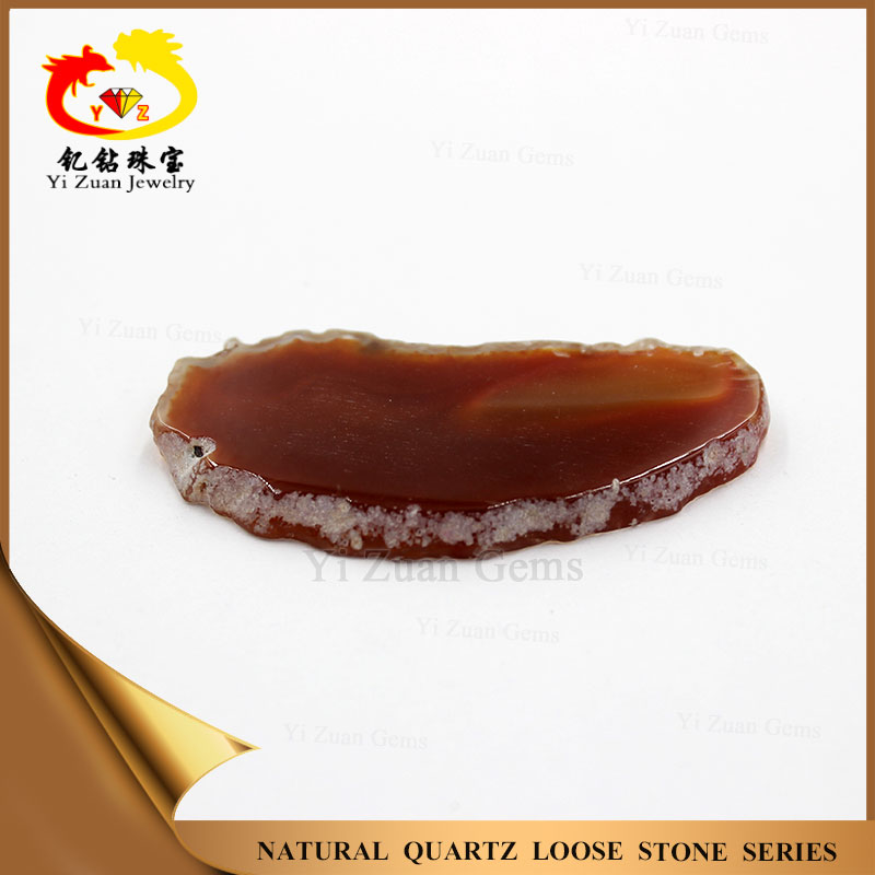 Semi-precious stone slice dyed color agate onyx gemstones