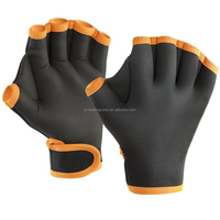 Durable water playing sport diving webbed neoprene swimming gloves