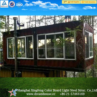 Prefab shipping living 20FT container houses/coffee room/ movable container home