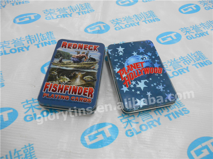 poker card metal tin box for children game packaging