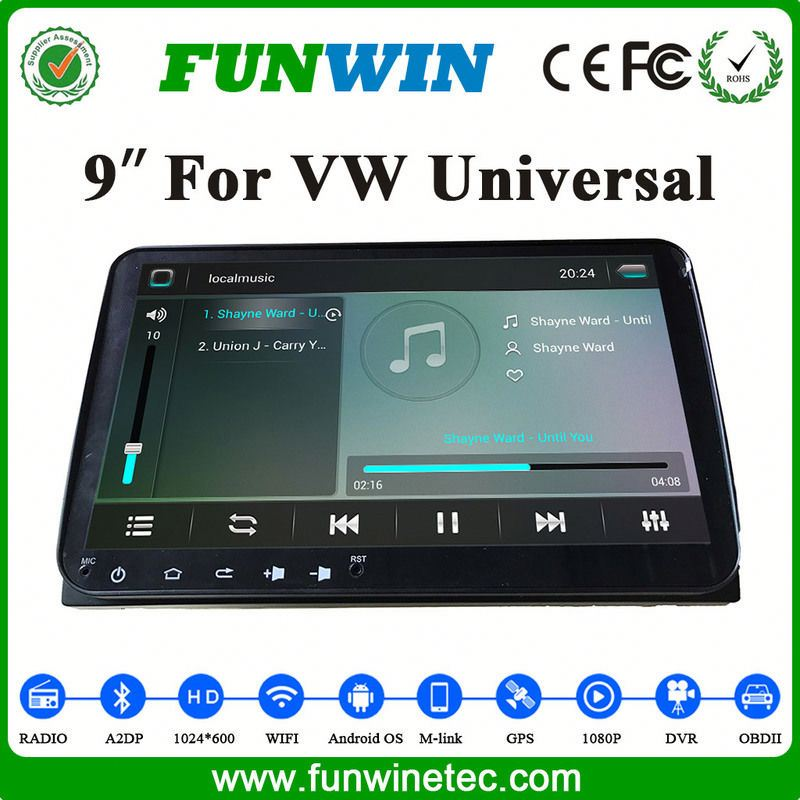 Android 4.4 2 Din Touch Screen Car Stereo For VW Universal Cars From China