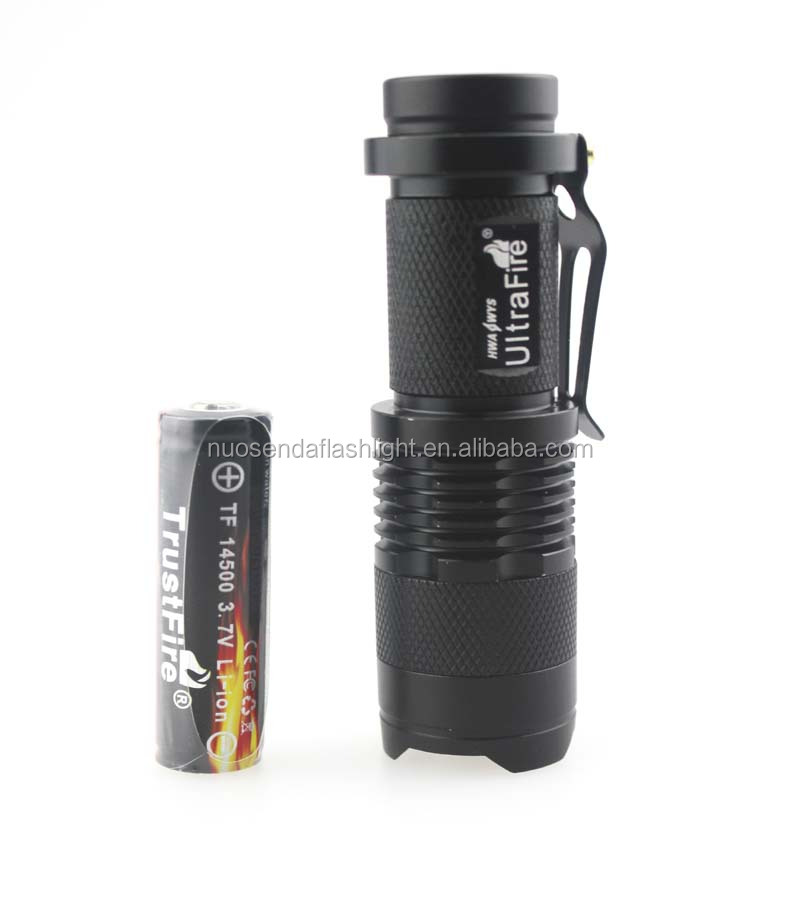 <strong>U</strong>-F SK68 1xCREE XM-L2 U3 1300 Lumens 3-Mode Zooming LED Flashlight +1x14500 Li-ion <strong>Battery</strong>