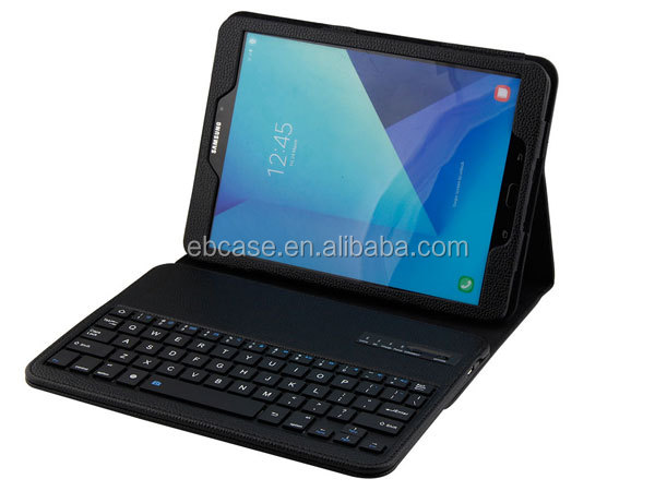 Folio Leather Stand Case Cover With Bluetooth Keyboard For Samsung Galaxy Tab s3 9.7
