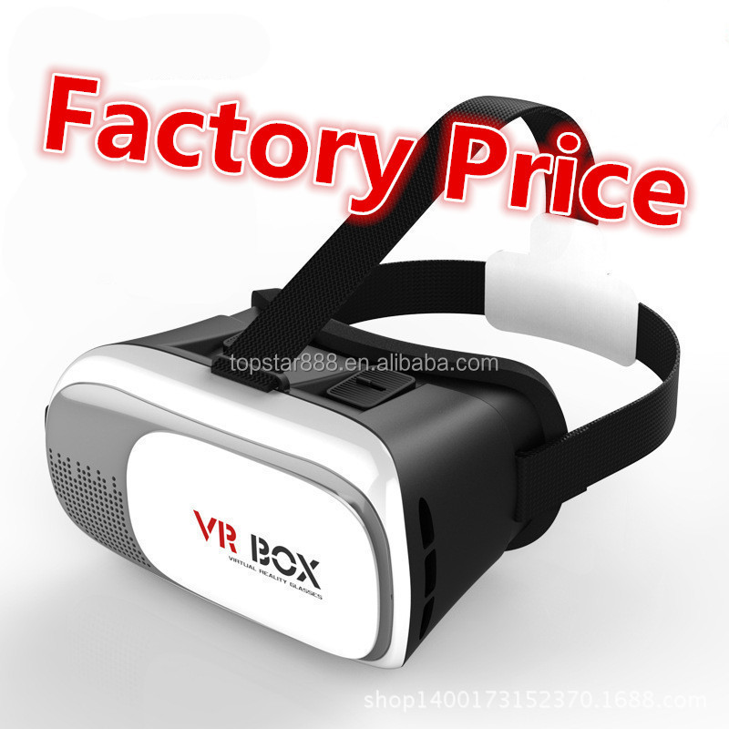 Factory Supply 3D Head Mount VR Box 2nd Generation Virtual Reality vr glasses & Bluetooth Remote Controller