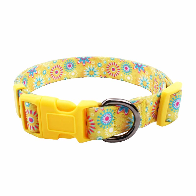 Super soft PVC dog collar durable animal neck strap custom pet supplies polyester cat collar