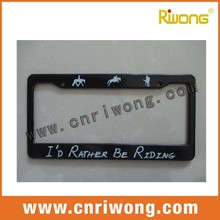 Custom Canada License Plate Frames for Motorcycles